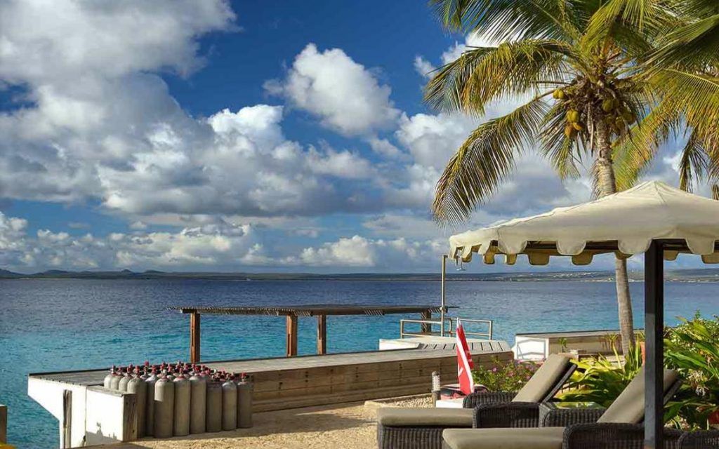 belmar oceanfront apartments bonaire diving beach